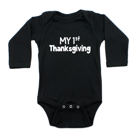 Thanksgiving My First Thanksgiving Long Sleeve Infant Bodysuit