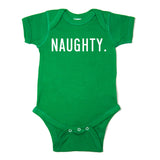 Christmas Naughty & Nice Words Long Sleeve Infant Bodysuit