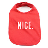 Christmas Naughty & Nice Soft Cotton Infant Bib