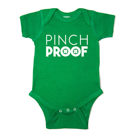 St. Patrick's Day Pinch Proof Short Sleeve Baby Infant Bodysuit