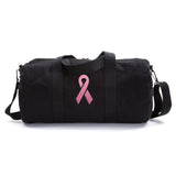 Breast Cancer Awareness Vintage Sport Army Canvas Duffel Bag Pink Ribbon