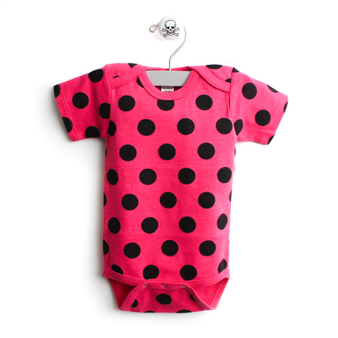 Polka Dot Pattern Short Sleeve Bodysuit
