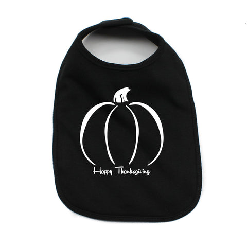 Thanksgiving Pumpkin Soft Cotton Infant Bib