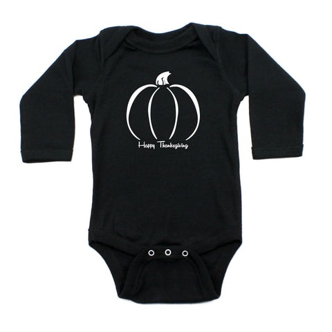 Thanksgiving Pumpkin Long Sleeve Baby Infant Bodysuit