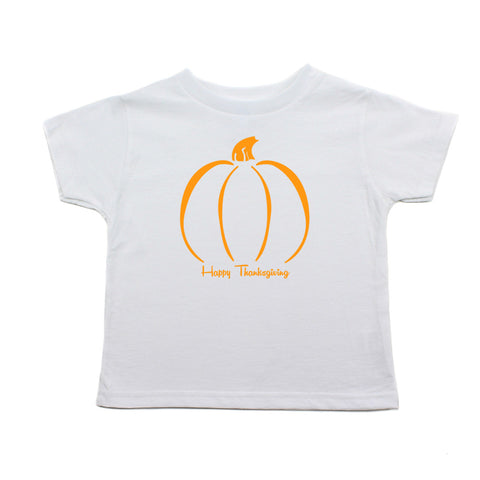 Thanksgiving Pumpkin Toddler Short Sleeve T-Shirt