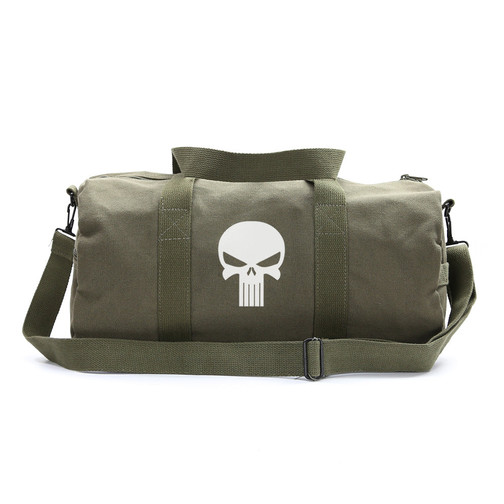 Canvas Shoulder Duffel Bag-Sports Duffle The Punisher Skull