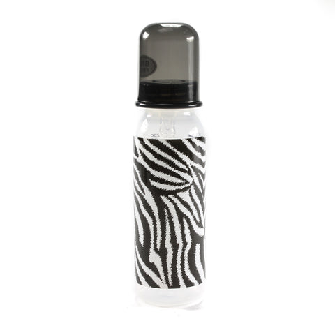 Rock Star Baby Zebra Animal Print 8 oz Bottle  by Tico Torres