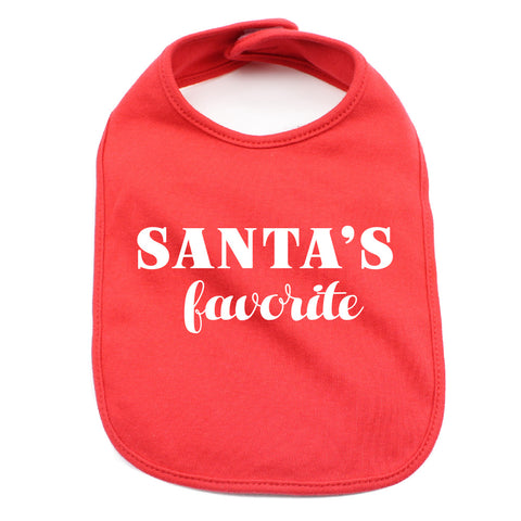 Christmas Santa's Favorite Soft Cotton Infant Bib