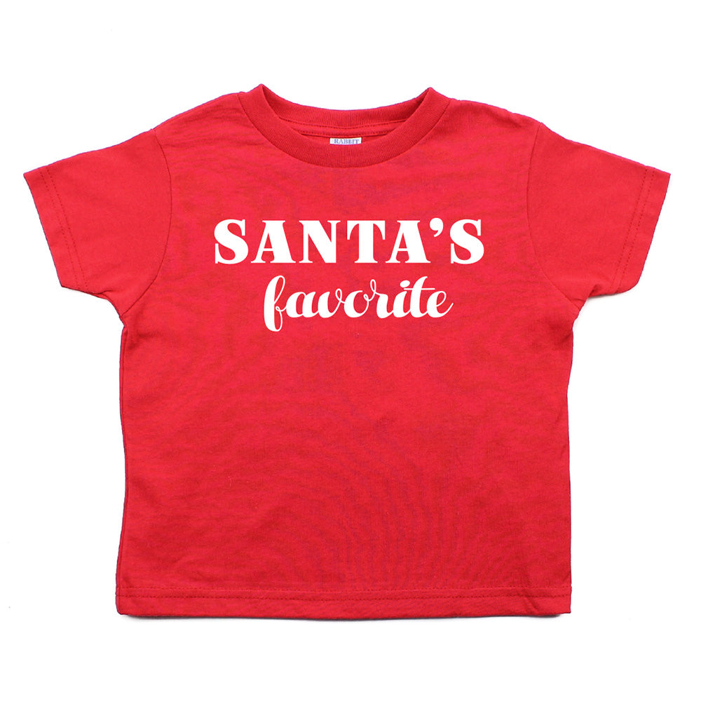 Christmas Santa's Favorite Toddler Short Sleeve T-Shirts