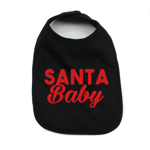 Christmas Santa Baby Star Soft Cotton Infant Bib