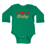 Christmas Santa Baby Long Sleeve Infant Bodysuit
