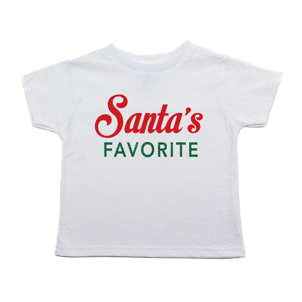 Christmas Multicolored Santa's Favorite Toddler Short Sleeve T-Shirts