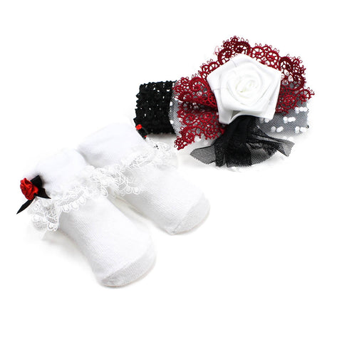 Black Diva Headband & Sock Set