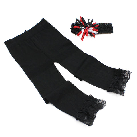 Black Leggings and Headband Set
