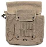 Heavyweight Parratrooper Diaper Bag in Khaki with White Scribble Skull