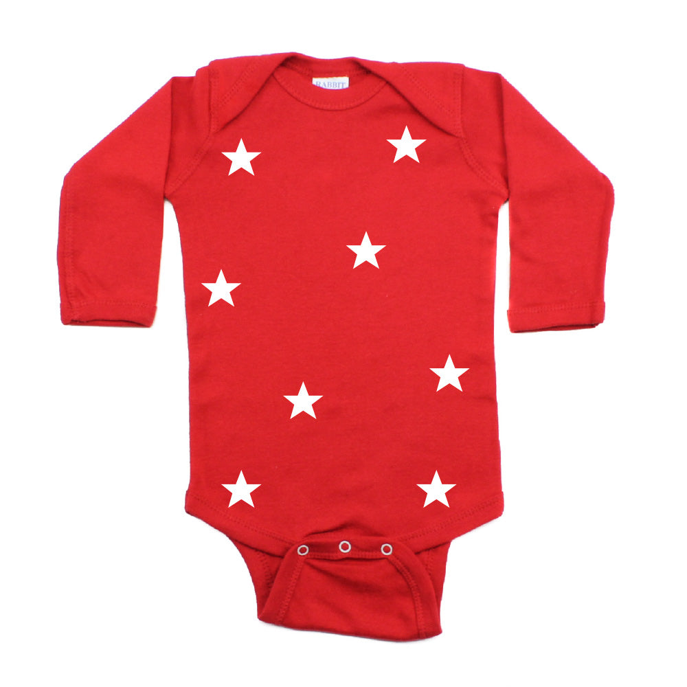 Christmas Nine Small Stars Long Sleeve Infant Bodysuit