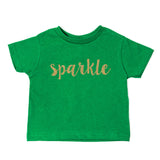 Christmas Sparkle with Gold Glitter Toddler Short Sleeve T-Shirts