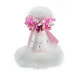 White with Pink Bow 1st Birthday Party Hat