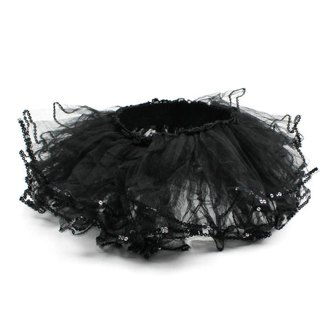 Black Toddler Tutu with Sequins Trim, 2 - 6 Year