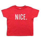 Christmas Naughty & Nice Toddler Short Sleeve T-Shirts