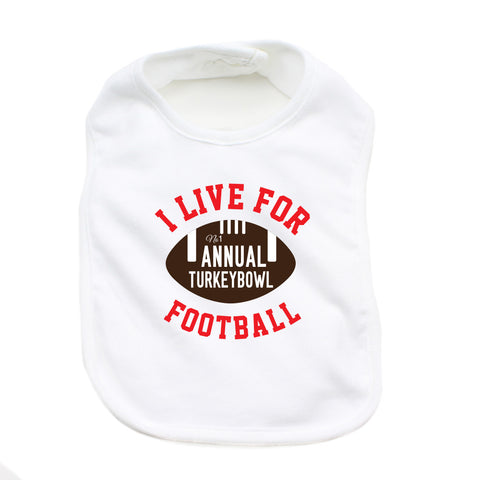 Thanksgiving Turkey Bowl Soft Cotton Infant Bib
