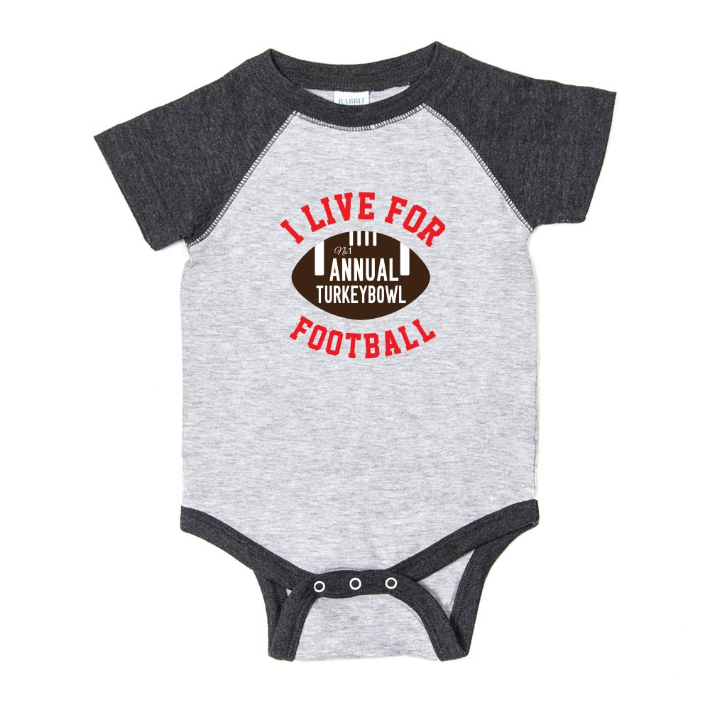 Thanksgiving Turkey Bowl Short Sleeve Infant Bodysuit