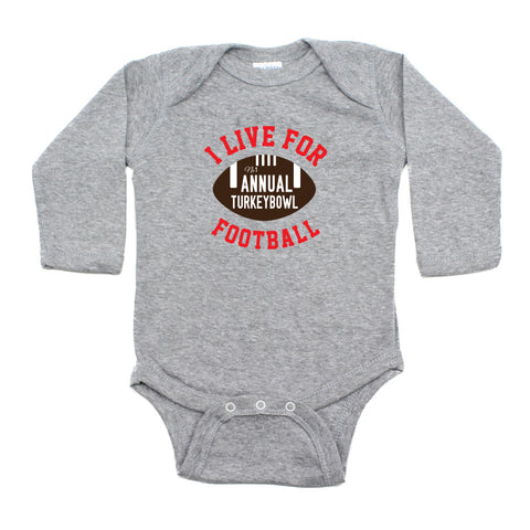 Thanksgiving Turkey Bowl Long Sleeve Infant Bodysuit