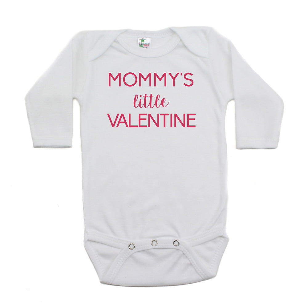 Valentine's Day Mommy's Little Valentine Long Sleeve Infant Bodysuit