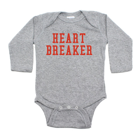 Valentine's Day Heartbreaker Long Sleeve Infant Bodysuit