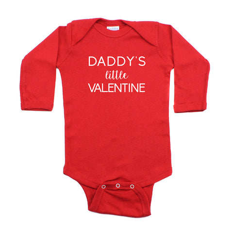 Valentine's Day Daddy's Little Valentine Long Sleeve Infant Bodysuit