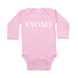 Valentine's Day #XOXO Hugs and Kisses Long Sleeve Infant Bodysuit