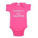 Valentine's Day Mommy's Little Valentine Short Sleeve Infant Bodysuit