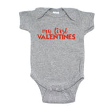 Valentine's Day My First Valentines Short Sleeve Infant Bodysuit