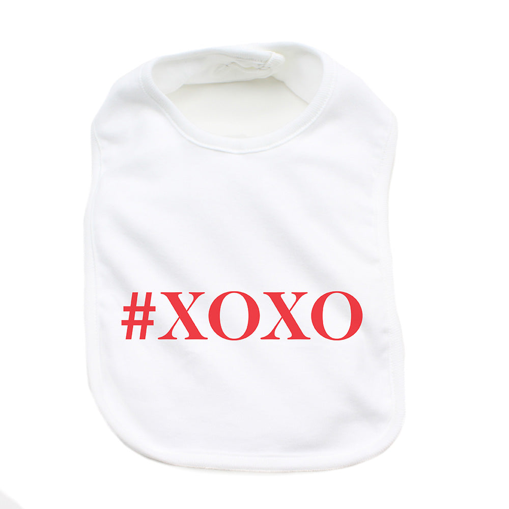Valentine's Day #XOXO Soft Cotton Infant Bib