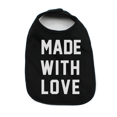 Valentine's Day Made With Love Soft Cotton Infant Bib