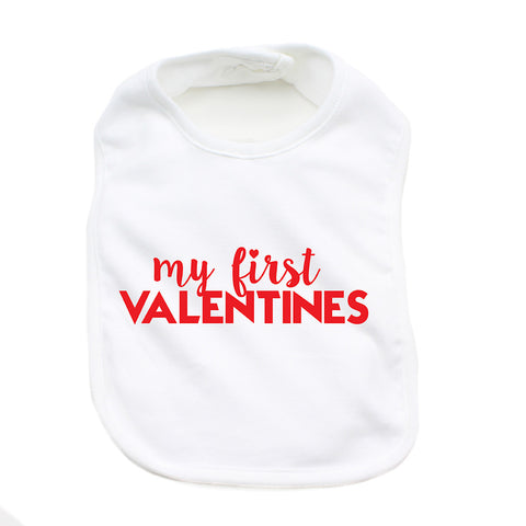 Valentine's Day My First Valentines Soft Cotton Infant Bib