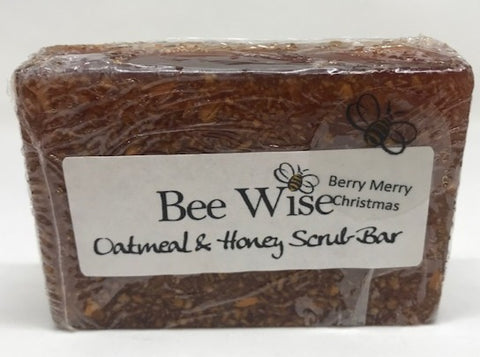 Berry Merry Christmas Scrub Soap Bar_BeeWiseLLC.com