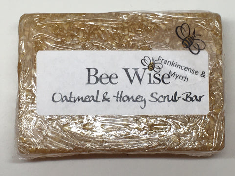 Frankincense and Myrrh Scrub Soap Bar_BeeWiseLLC.com