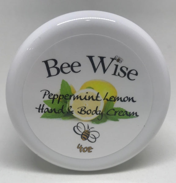 Peppermint and Lemon Hand and Body Cream 4 oz