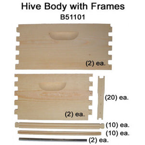 Hive Body w/ Frames 10-Frame - unassembled