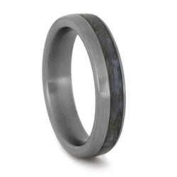 dinosaur bone wedding band brushed titanium ring - Dinosaur Bone Wedding Ring