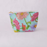 Make Up Bag - Zinnia and Garden Insect