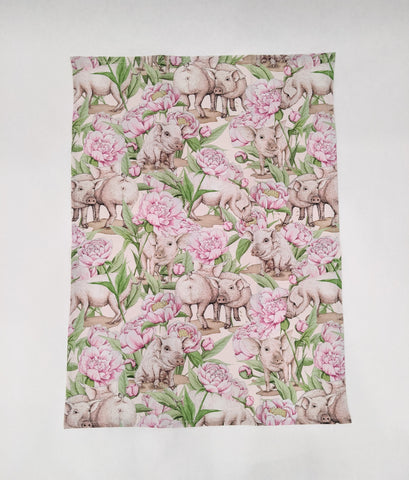 Tea Towel - Piggy and Peony