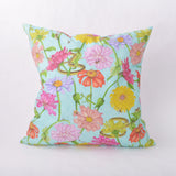 Throw Pillow - Zinnia and Garden Insect