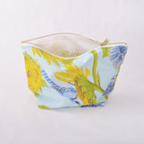 Toiletry Pouch - Blue Jay and Sunflower