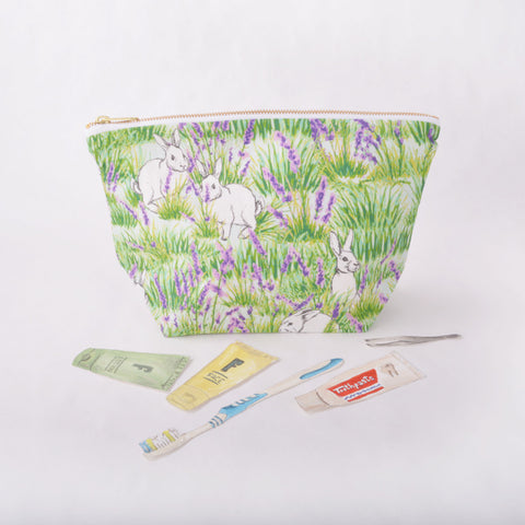 Toiletry Pouch - Bunny and Lavender