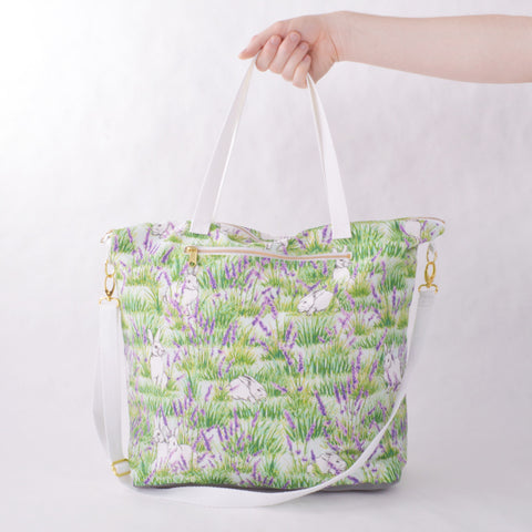 Weekender Tote - Bunny and Lavender