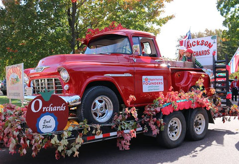 Bayfield Apple Fest Parade - Erickson Orchard Float - Bayfield WI