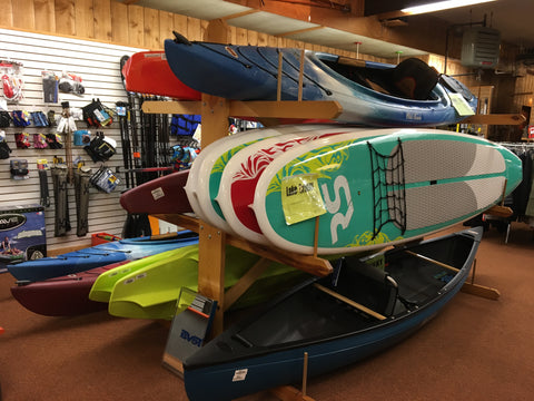 Kayaks, canoes, paddle boards at Outdoor Ventures in Hayward, WI