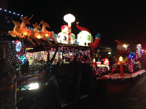 Start Your Engines Light Parade - A Lure of Lights - Hayward WI Celebration